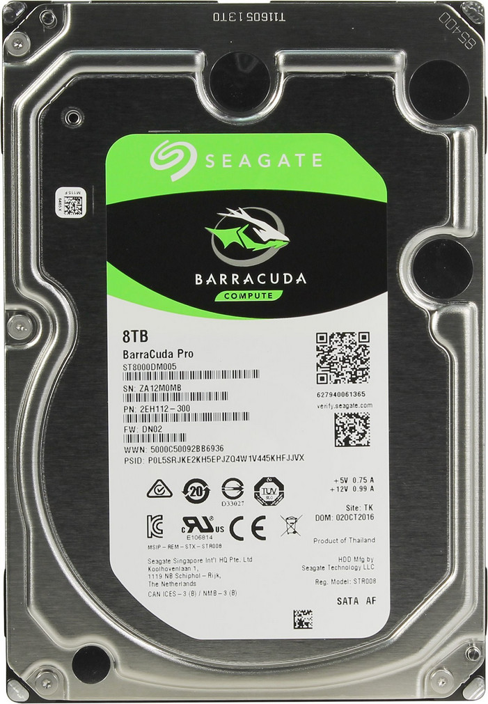 Жёсткий диск HDD 8TB Seagate Barracuda ST8000DM005